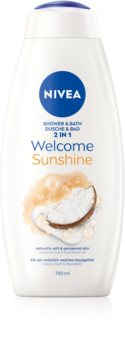 Nivea Welcome Sunshine пяна за вана и душ гел 2 в 1 макси