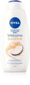 Nivea Welcome Sunshine pěna do koupele a sprchový gel 2 v 1 maxi