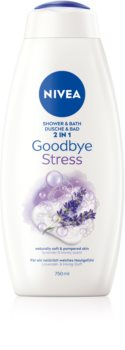 Nivea Goodbye Stress pěna do koupele a sprchový gel 2 v 1 maxi