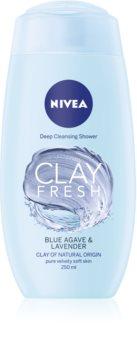 Nivea Clay Fresh Blue Agave & Lavender gel doccia con argilla