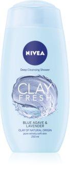 Nivea Clay Fresh Blue Agave & Lavender sprchový gel s jílem