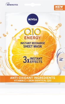 Nivea Q10 Energy maschera antirughe in tessuto