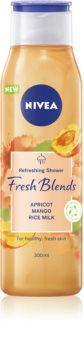 Nivea Fresh Blends Apricot & Mango & Rice Milk gel de ducha refrescante