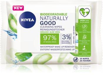 Nivea Naturally Good почистващи кърпички за лице