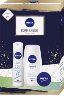 Nivea Fresh Natural Gift Set (for Face, Hands and Body)