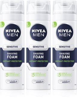 Nivea Men Sensitive пяна за бръснене  (изгодна опаковка)