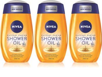 Nivea Natural Caring huile de douche pour peaux sèches