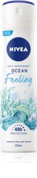 Nivea Ocean Feeling Antiperspirant Spray 48 timer