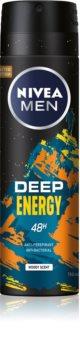 Nivea Deep Energy antiperspirant ve spreji pro muže