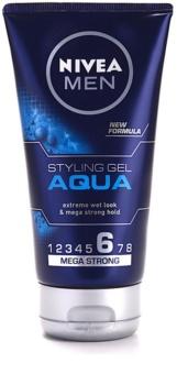 Nivea Men Aqua Hair Styling Wet Effect Gel Extra Strong Hold