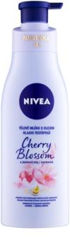 Nivea Cherry Blossom & Jojoba Oil тоалетно мляко за тяло с олио