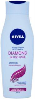 Nivea Diamond Gloss šampón pre unavené vlasy bez lesku