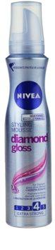 Nivea Diamond Gloss fissante in mousse
