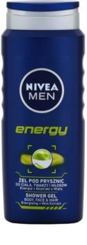 Nivea Men Energy żel pod prysznic do twarzy, ciała i włosów