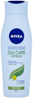 Nivea 2in1 Care Express Protect & Moisture Hiustenpesu- Ja Hoitoaine 2 in 1 Kaikille Hiustyypeille