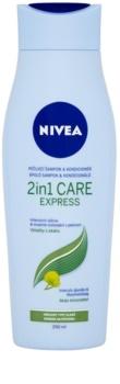 Nivea 2in1 Care Express Protect & Moisture sampon si balsam 2 in 1 pentru toate tipurile de păr
