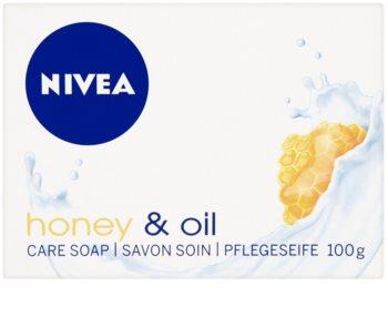 Nivea Honey & Oil твърд сапун