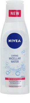 Nivea Caring água micelar para pele seca a sensível
