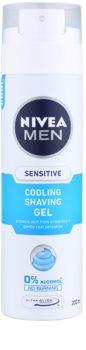 Nivea Men Sensitive gel de barbear com efeito resfrescante