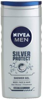 Nivea Men Silver Protect gel de ducha para rostro, cuerpo y cabello