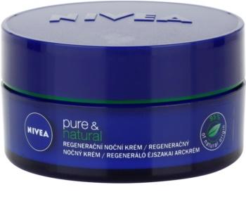 Nivea Visage Pure & Natural creme de noite regenerador  para todos os tipos de pele