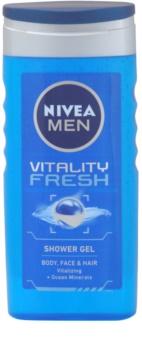 Nivea Men Vitality Fresh gel doccia per capelli e corpo