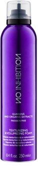 No Inhibition Styling espuma de cabelo para volume e forma