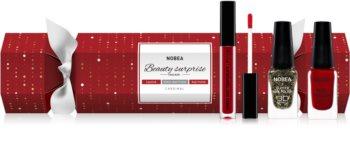 NOBEA Beauty Surprise Christmas Cracker Red kosmetická sada pro ženy