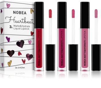 NOBEA Heartbeat kit de rouges à lèvres liquides