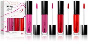 NOBEA Colourful ensemble de brillants à lèvres effet vinyle 4 x 7 ml