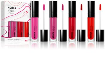 NOBEA Colourful Vinyl Effect Lip Gloss Set 4 x 7 ml