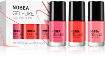 NOBEA Colourful nail polish set Flamingo Summer