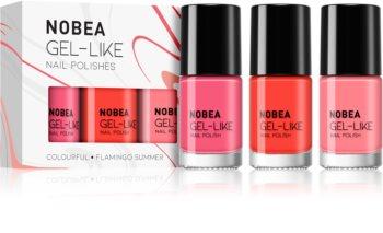 NOBEA Colourful sada laků na nehty Flamingo Summer