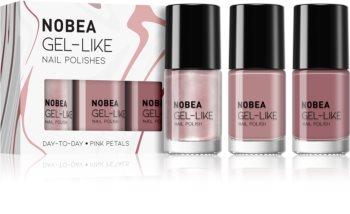 NOBEA Day-to-Day sada laků na nehty Pink Petals odstín