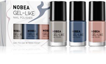 NOBEA Day-to-Day набір лаків для нігтів Fresh Frost відтінок