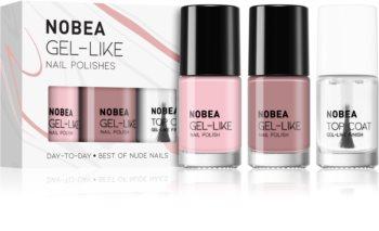 NOBEA Day-to-Day sada laků na nehty Best of Nude Nails