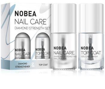 NOBEA Nail care kit med nagellack Diamond strength set