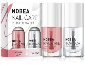NOBEA Nail care zestaw lakierów do paznokci Vitamin glow set