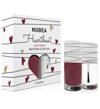 NOBEA Heartbeat nail polish and top coat set