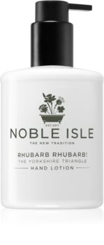 Noble Isle Rhubarb Rhubarb! crema delicata mani