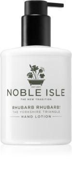Noble Isle Rhubarb Rhubarb! crème douce mains