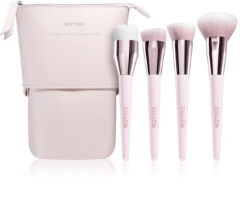 Notino Glamour Collection Flawless Face Brush Set brush set with pouch