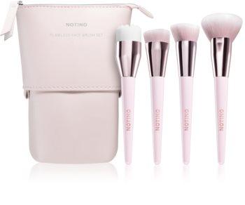 Notino Glamour Collection Flawless Face Brush Set Ecsetkészlet táskával