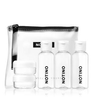 Notino Travel Reiseset mit 5 Fläschchen zum Befüllen im Kosmetiktäschchen WHITE