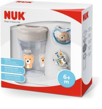 NUK Magic Cup & Space Set ajándékszett Neutral (gyermekeknek)