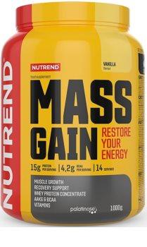 Nutrend MASS GAIN podpora tvorby svalové hmoty  vanilla