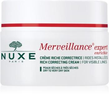 Nuxe Merveillance Expert creme antirrugas para pele seca a muito seca