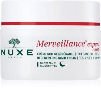 Nuxe Merveillance Expert creme de noite regenerador  para todos os tipos de pele