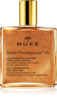 Nuxe Huile Prodigieuse Or мультифункціональна суха олійка з блискітками для обличчя, тіла та волосся