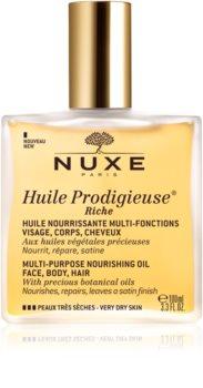 Nuxe Huile Prodigieuse Riche мультифункціональна суха олійка для дуже сухої шкіри